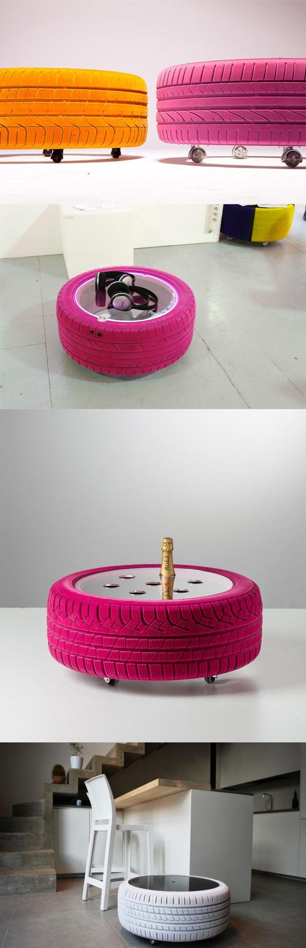 Table en pneus